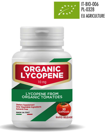 Our patented organic lycopene is a food supplement with lycopene organically extracted from organic Italian tomatoes. Its anti oxidant activity, Lycopene helps to reduce the oxidative stress and protects low density lipoproteins from free radicals, therefore Lycopene can contribute to the lipid balanced through a reduction of the oxidative stress... ask for our PRIVATE LABEL manufacturing POLICY